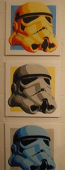 very cool  storm trooper triptych- which - if could afford-- i would have bought for myself.