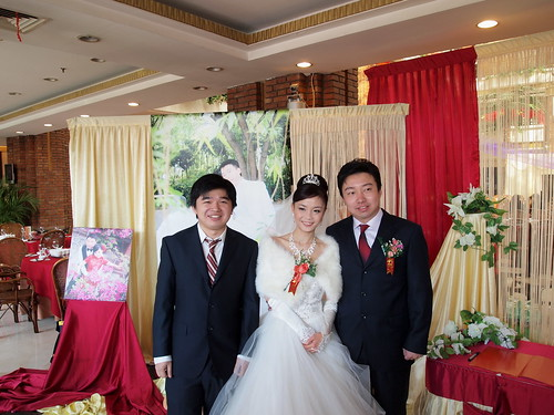 The couple and the Best Man