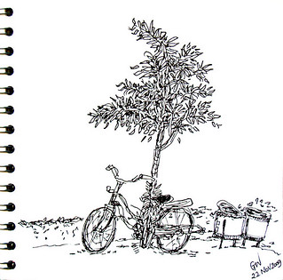 bike in the garden