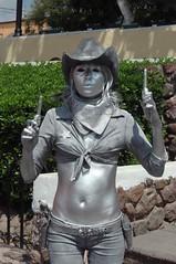 Pistolera - Gunfighter Human Statue; Tepotzotlán, Mexico