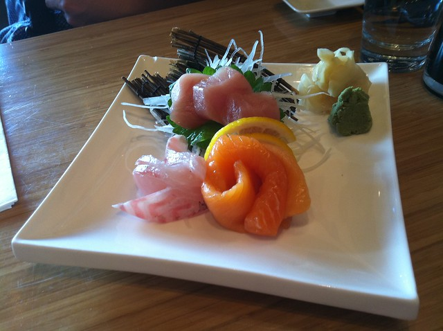 gari with sushi