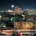 Ekaterinburg under the moonlight by Anton Novoselov
