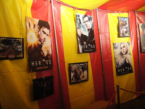 Heroes carnival character posters under the big top