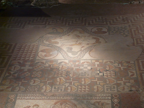 Bellerephon Killing the Chimera Mosaic, Lullingstone Roman Villa
