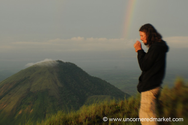 Morning Smoke Break - El Hoyo Volcano, Nicaragua