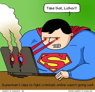 Superman tries online justice