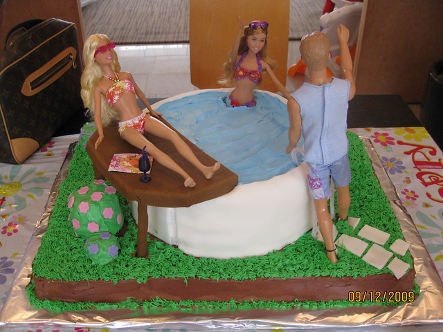 Barbie Pool Party Cake Flickr - Photo Sharing!