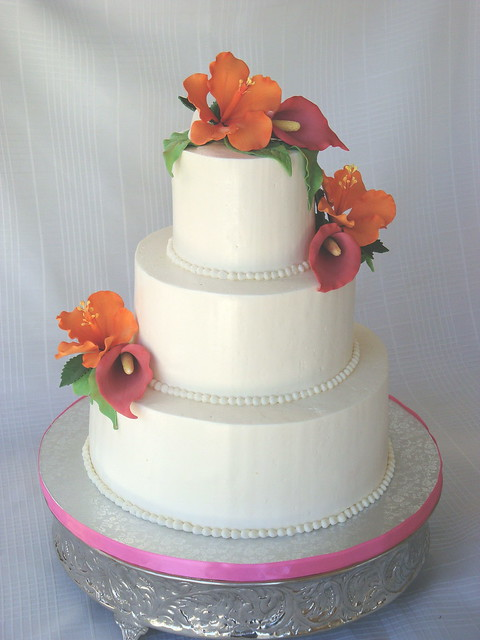 Tropical Wedding Cake This was so stressful for me