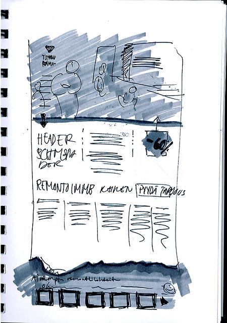 Timanttiremontti.fi website initial sketch