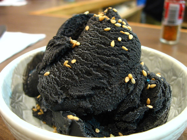 Black sesame ice cream | Flickr - Photo Sharing!