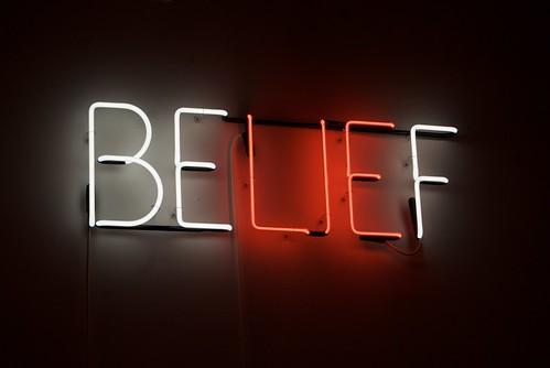 Belief - Neon sculpture by Joe Rees