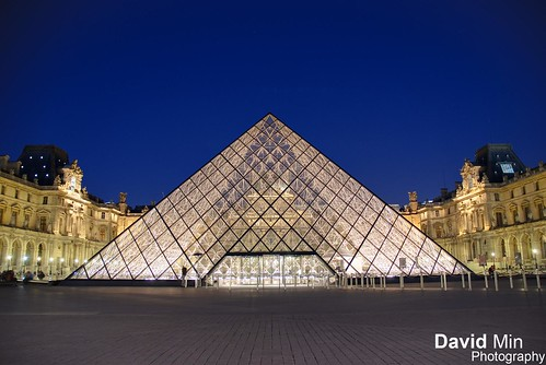 Paris, France - Louvre Pyramid