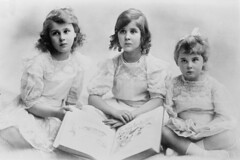 Olga, Elizabeth, & Marina, daughters of Prince and Princess of Greece, ca. 1910