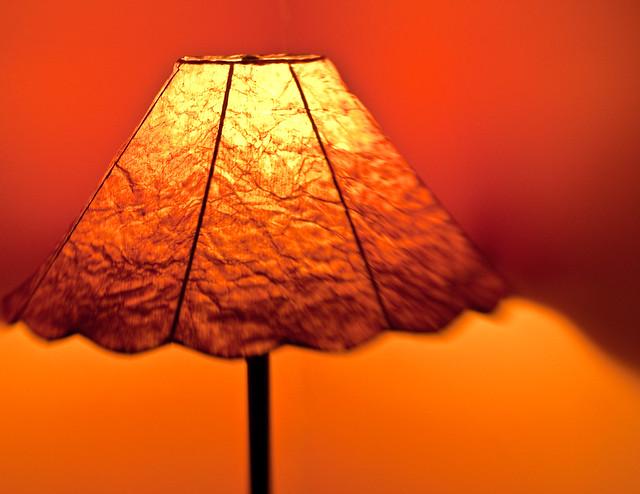 Orange Wall With Light