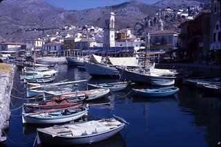 Greek island boats