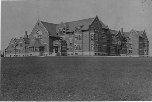 Women's residence and gym, Macdonald Hall, Guelph, Ontario, Canada.