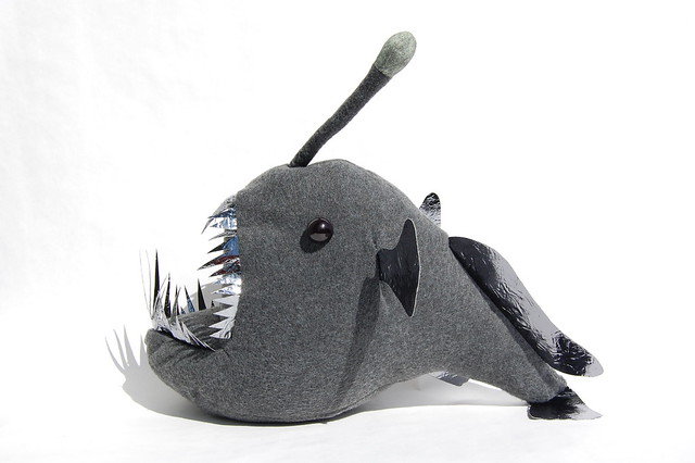Plush angler fish right flickr photo sharing for Angler fish toy