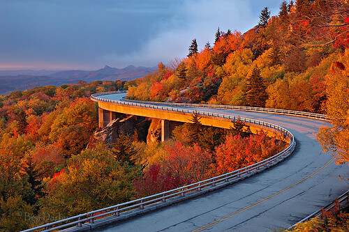 road bridge autumn mountain fall sunrise highway d70s northcarolina viaduct explore blueridgeparkway grandfathermountain tanawhatrail linncoveviaduct linncove n0910103750