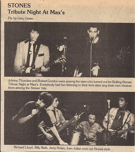 Rock Scene Magazine 02/79: Rolling Stones Tribute Night at Max's (11/07/78)