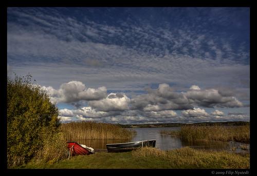 sky clouds sweden sverige hdr dalsland ellenösjön 202009