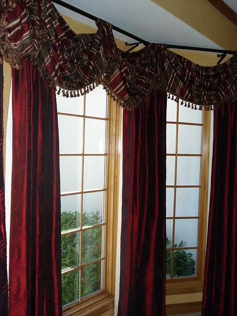 Beautiful bay window treatment flickr photo sharing for Beautiful window treatments