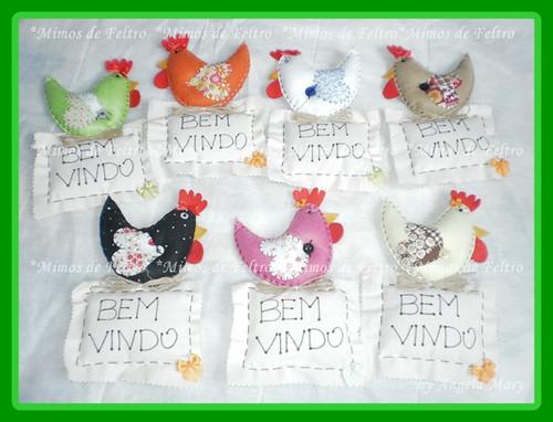 =>SEJAM MUITO BEM VINDAS by ♥ Mimos de Feltro by Angela Mary® ♥