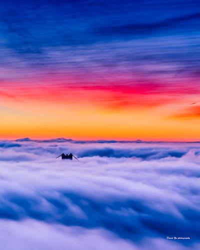 low fog lowfog sfist luckysnapashot sunrise hawk hill hawkhill san francisco sanfrancisco golden gate bridge goldengatebridge