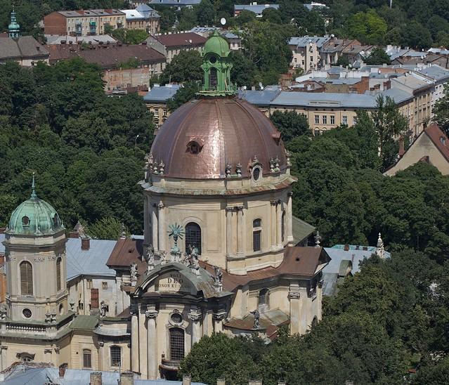 Dominican Church. View from town hall (Ratusha). Lviv, Ukraine (Домініканський собор. Вигляд з Ратуші. Львів, Україна)