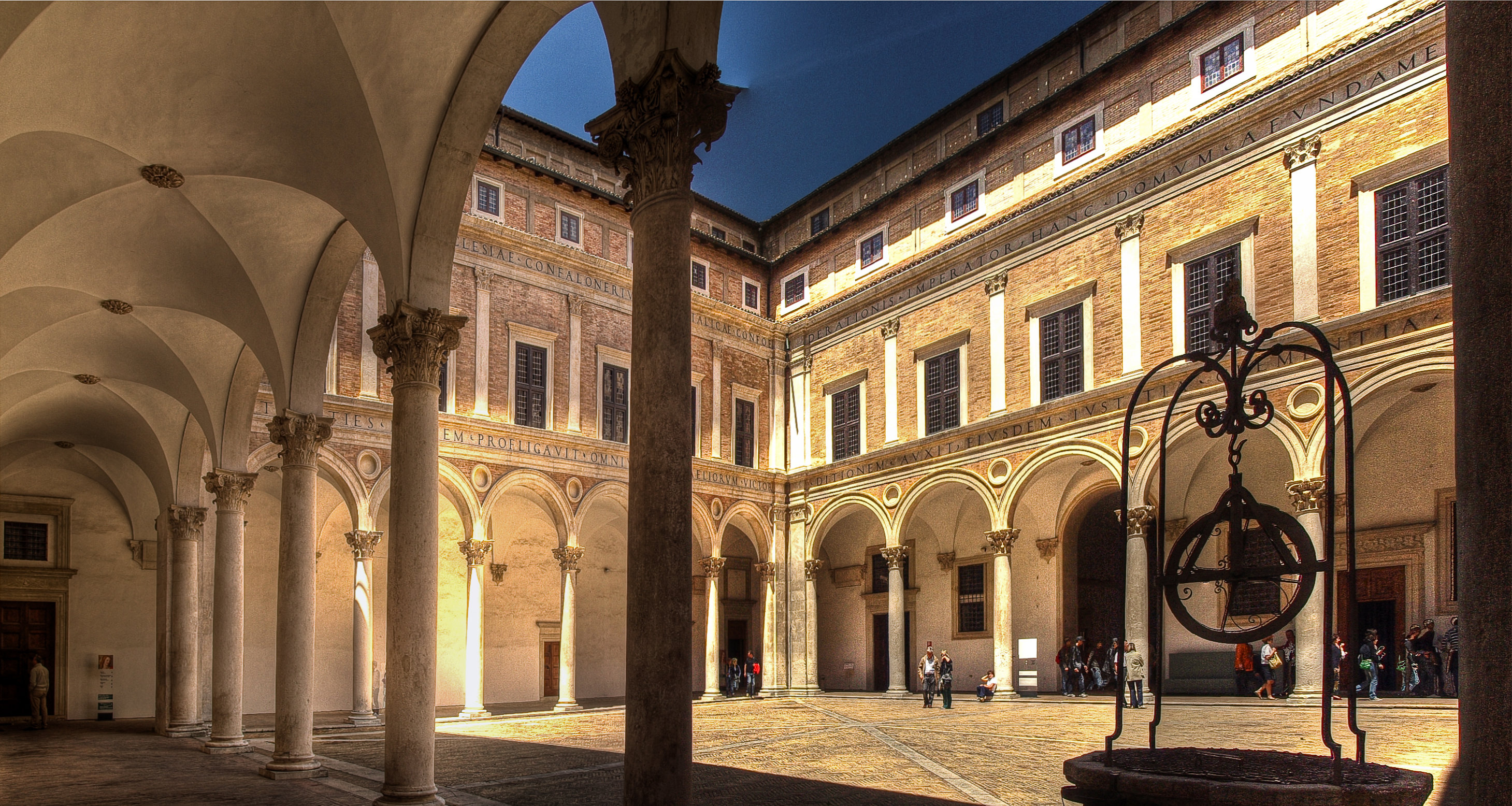 Urbino Italy Pictures Palace in Urbino Italy