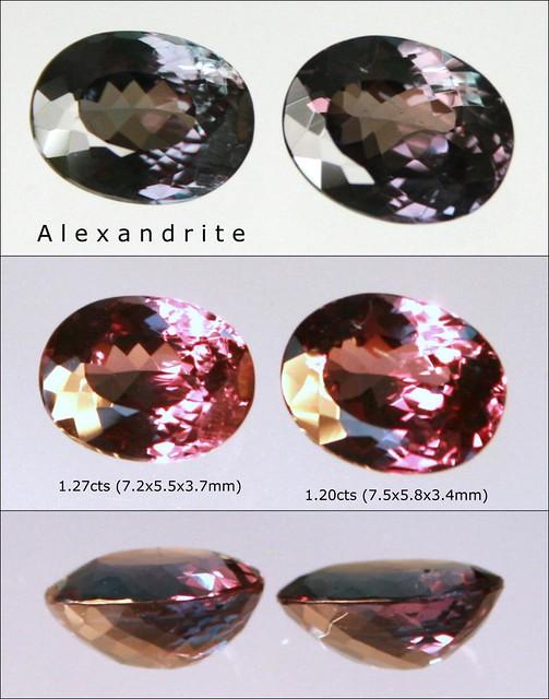 1 pair of Alexandrite