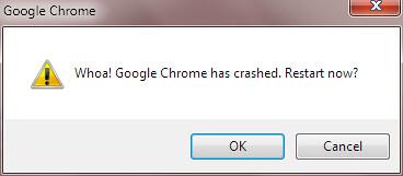 google chrome crashed