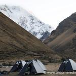 Camping at the Base of Salkantay Glacier - Peru
