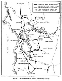 BART: Recommended Rapid Transit Construction Stages (1957)