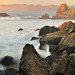 Sunset at Point Lobos Rocks, Golden Gate National Recreation Area