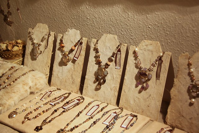 Hand-made necklace stands