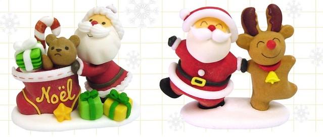 Sugar figurines for X'mas cake decoration