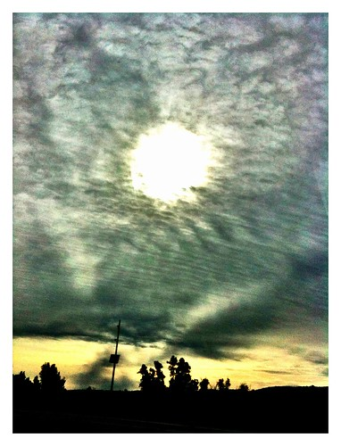 california county trees shadow sky sun car silhouette clouds sunrise riverside hills corona freeway interstate 3gs cirrus i15 iphone inlandempire