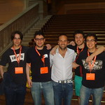 The Italian guys and Mark Shuttleworth!