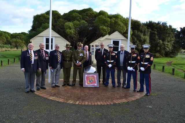 Memorial Day 30 May 2011, flag raising ceremony in Queen Elizabeth Park Paekakariki.