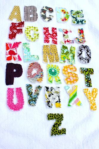 Rag Quilt Letters Tutorial