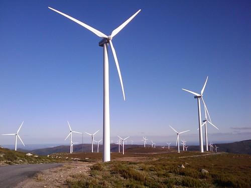 Un parque eólico español