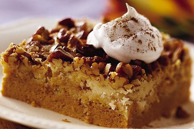 Pumpkin Dessert With Yellow Cake Mix On Top