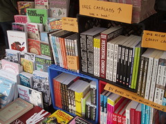 tabling books at the 2009 baltimore book festival