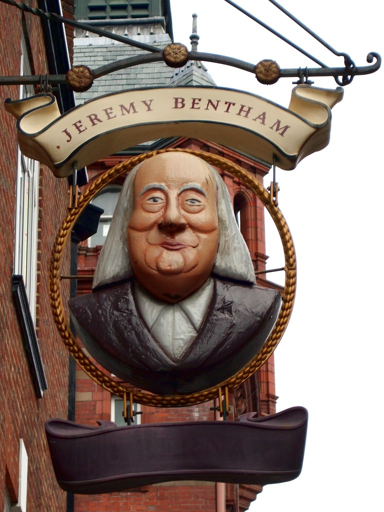 Jeremy Bentham, Bloomsbury, WC1