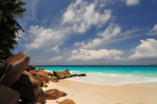 Image of Anse Georgette near Grand Anse Praslin. island seychelles georgette praslin anse