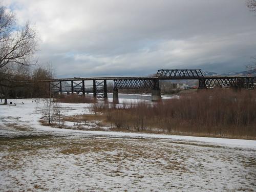 park bridge winter kamloops