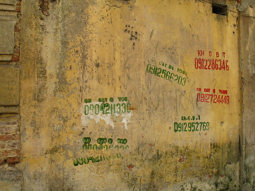 Stamped walls in Hanoi