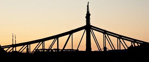 Liberty Bridge at Sunset