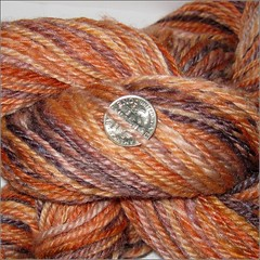 Apricot Cinder Merino-Silk Yarn, close up