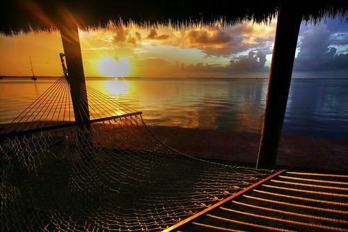 sunset gulfofmexico florida hammock keylargo grassshack